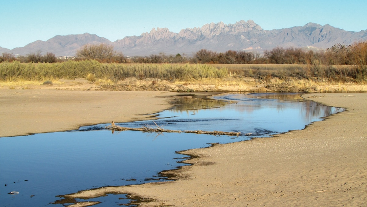 For much of the year, the only flows in the Rio Grande near Mesilla are from effluent.
