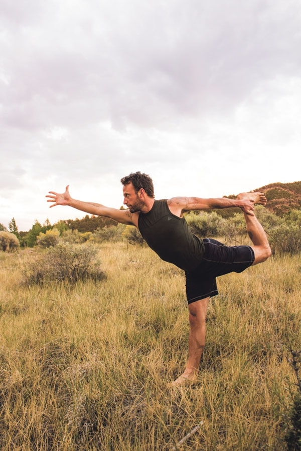Schrei teaches his yoga students that yoga—like life—is a practice.