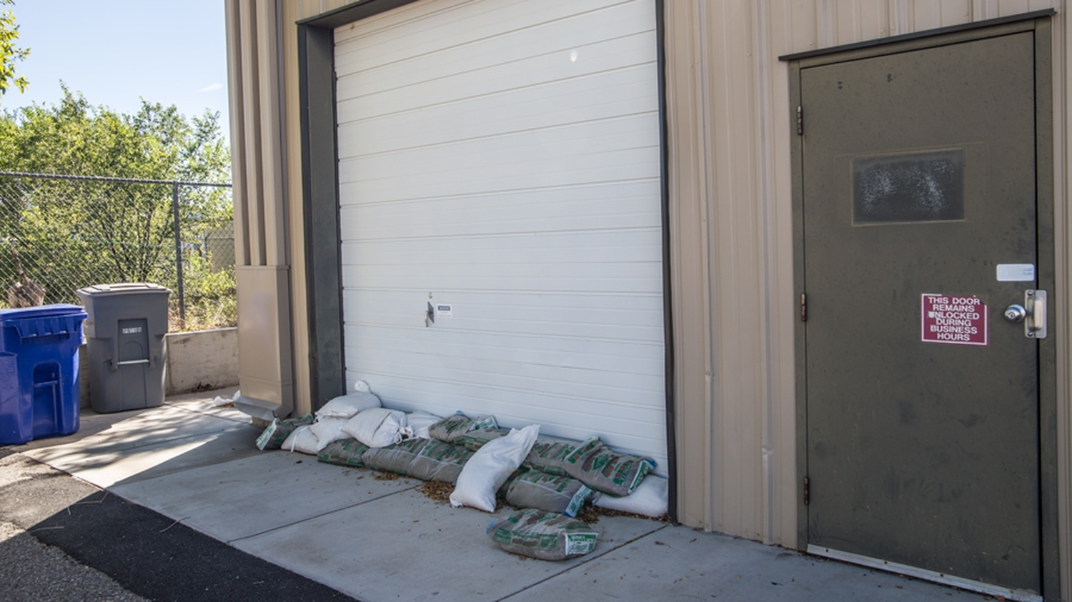 During flooding on July 23, water poured into the ArtSmart building through a small opening underneath a garage door.