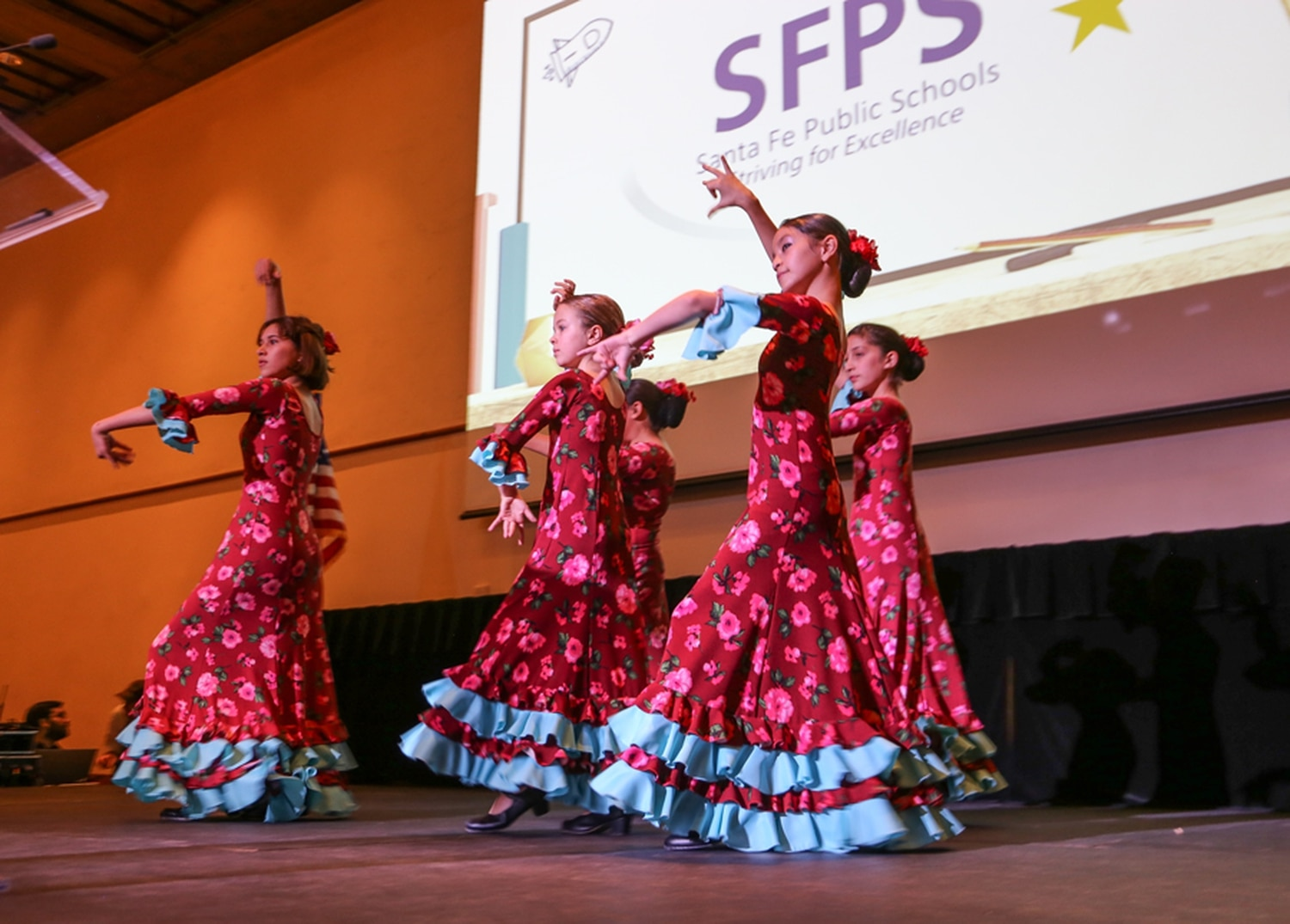 Students perform at the annual State of the Schools Address