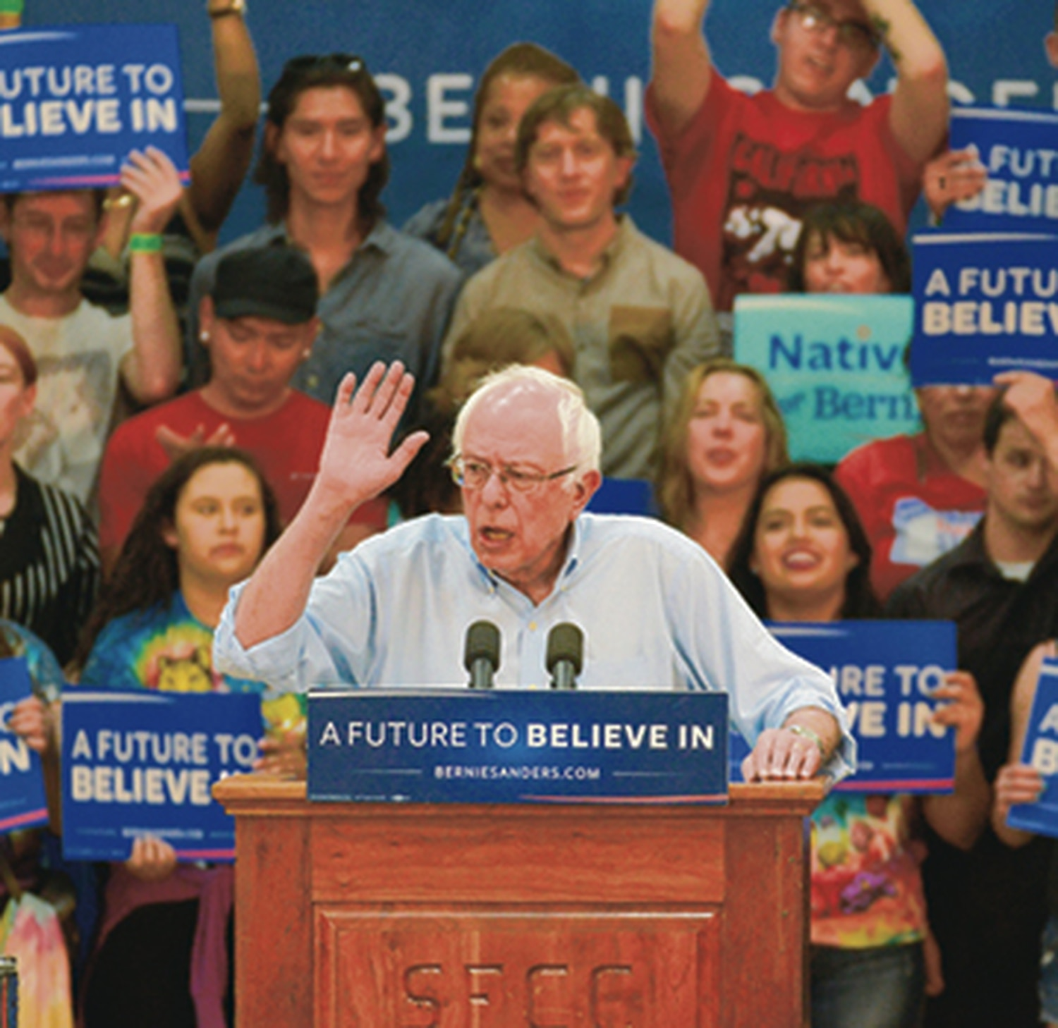 """Bernie Sanders visited Santa Fe last year, and some say """"Berniecrats"""" played a big role in sinking the sugar tax."""