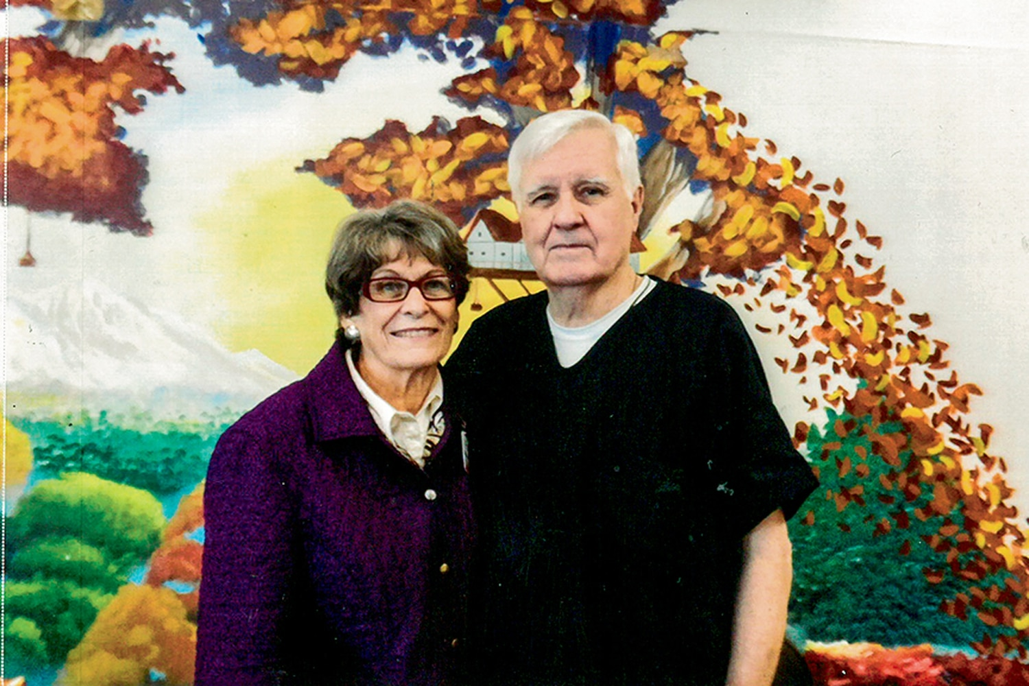 OC Fero and Carole Royal pose for a photograph during one of her visits to the Lea County Correctional Facility in Hobbs in 2016.