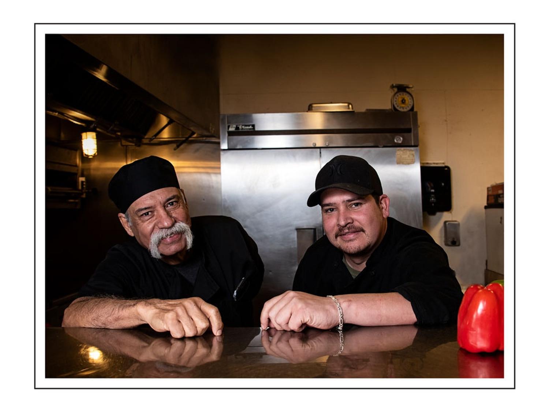 (left to right) Chefs Raul Herrera and Uriel Villalobos