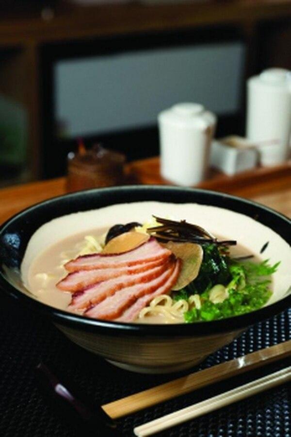 Tonkotsu soup with roasted kurobuta pork Photo: Joy Godfrey