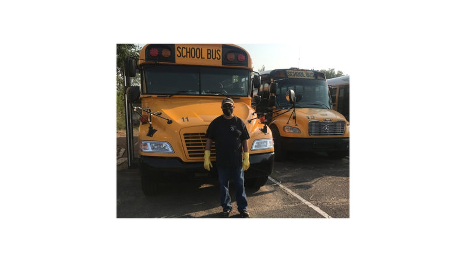Larry Sebada is one of the 11 drivers delivering food and classroom materials to students.