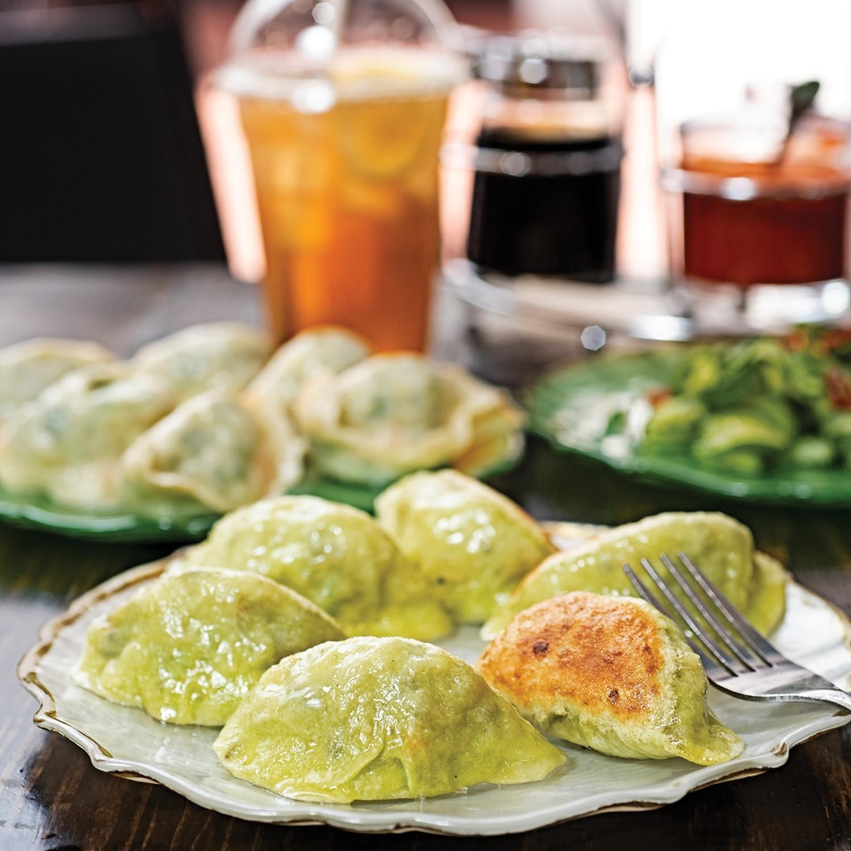 Veggie fried dumplings