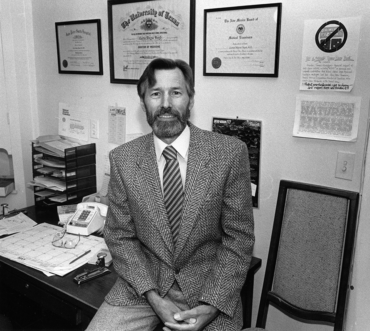 Dr. Curtis Boyd, circa 1990, provided abortion services in Santa Fe between the '70s and '90s. He now runs clinics in Albuquerque and Dallas.