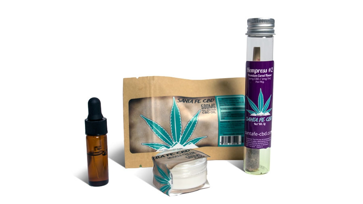 Santa Fe CBD grows the hemp for its products in Northern New Mexico and manufactures several products at Aromaland in Santa Fe.