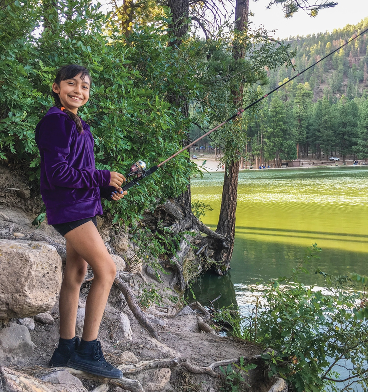 Naomi Aguilar fishes at Fenton Lake with the New Mexico Youth Conservation Corps, which will be calling for proposals in late spring that provide outdoor recreation and education opportunities for the state's youth.