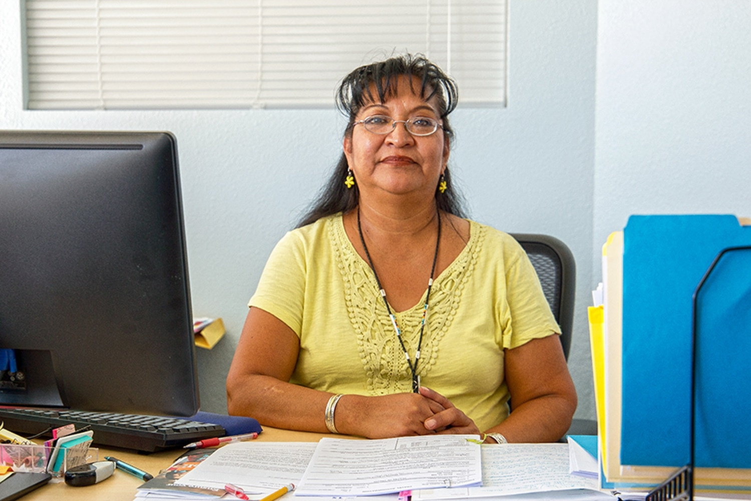 Delight Talawepi helped organize a community survey about Native healthcare.