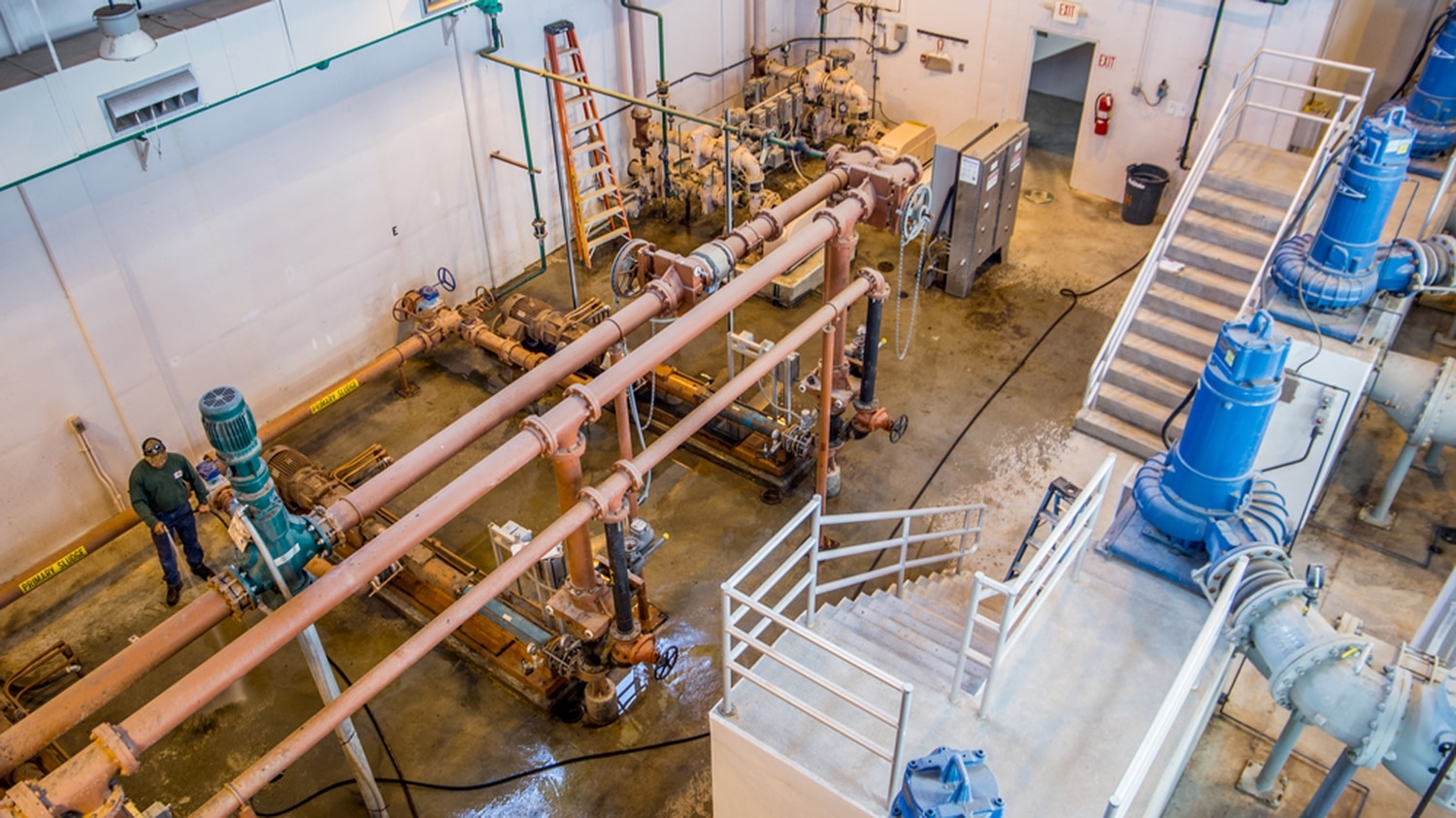 Wastewater gets treated at the Santa Fe Wastewater Treatment Plant. The city hopes to pipe this water back to the Rio Grande as part of a reuse strategy.