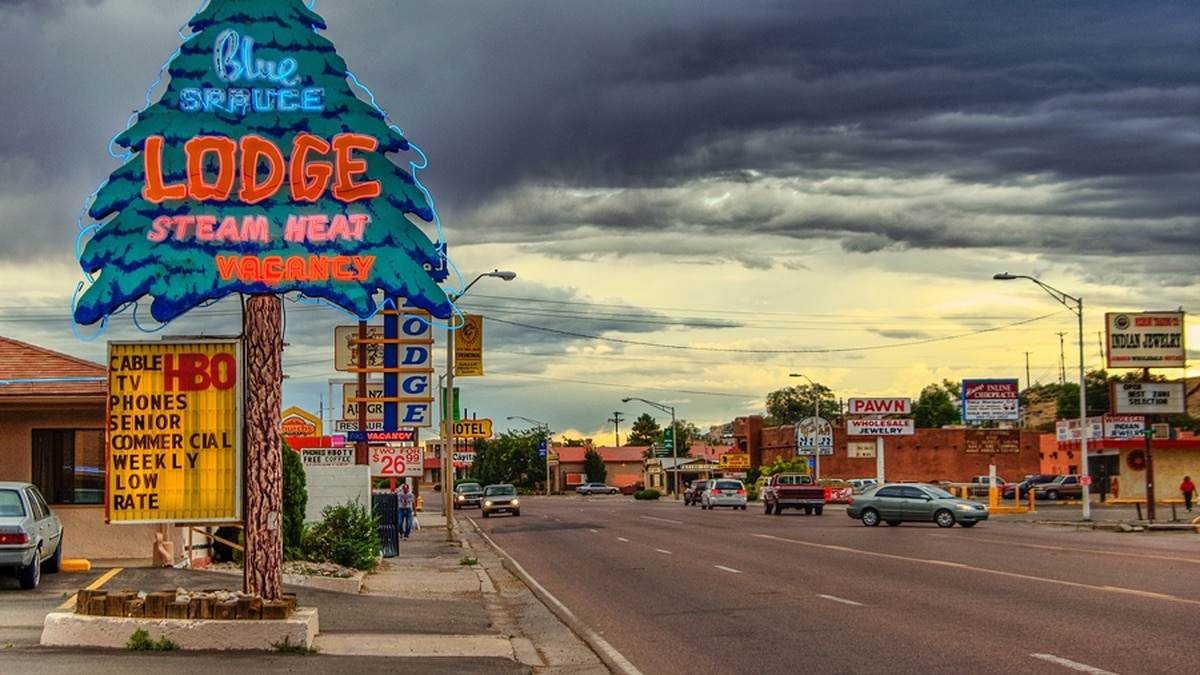 Street scenery in Gallup, New Mexico.