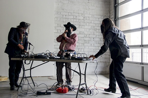 The artists at a recent performance at the Center For Contemporary Arts.