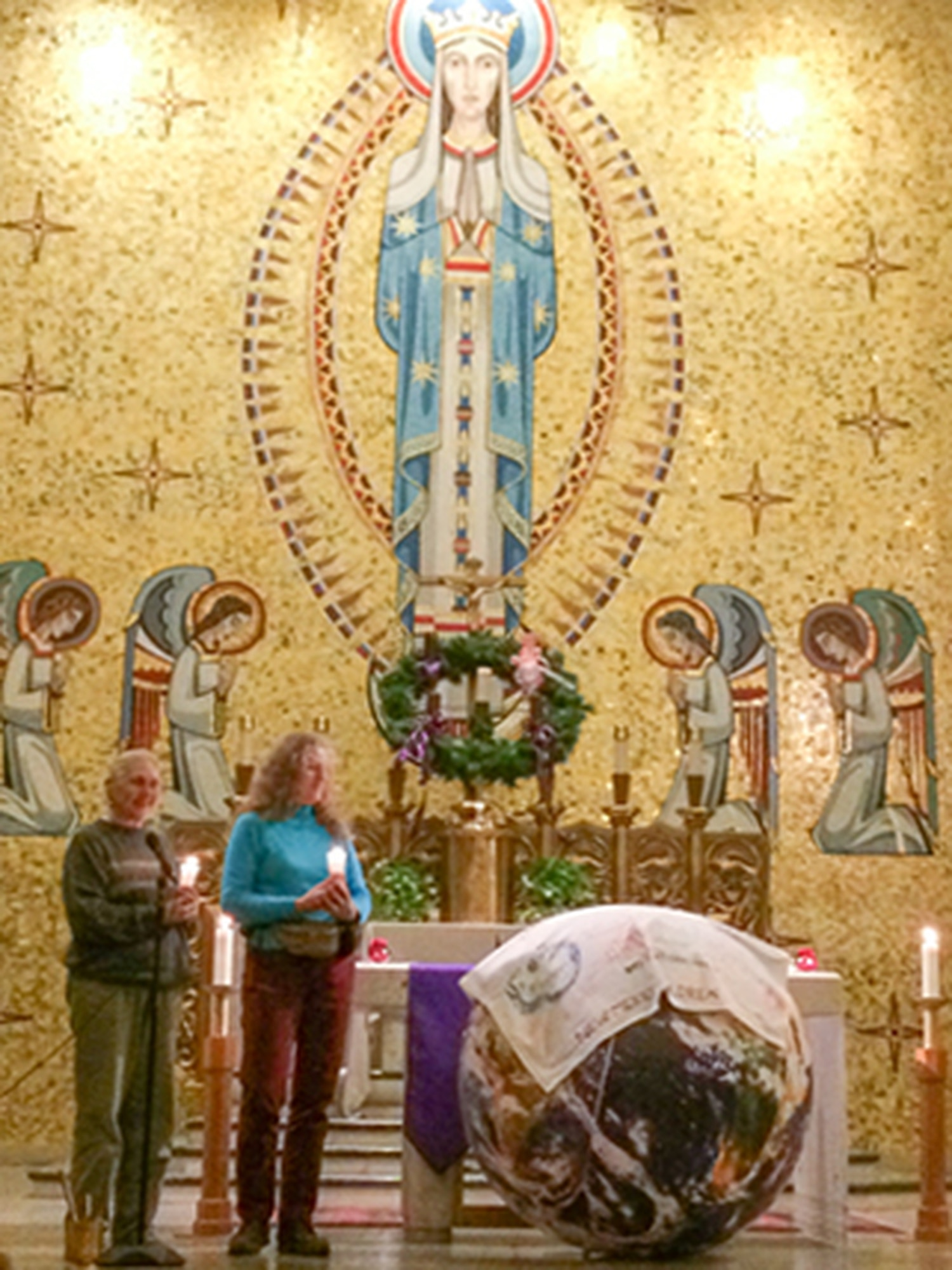 About 100 people came to an interfaith prayer service on the eve of the Paris climate talks last month in Albuquerque.