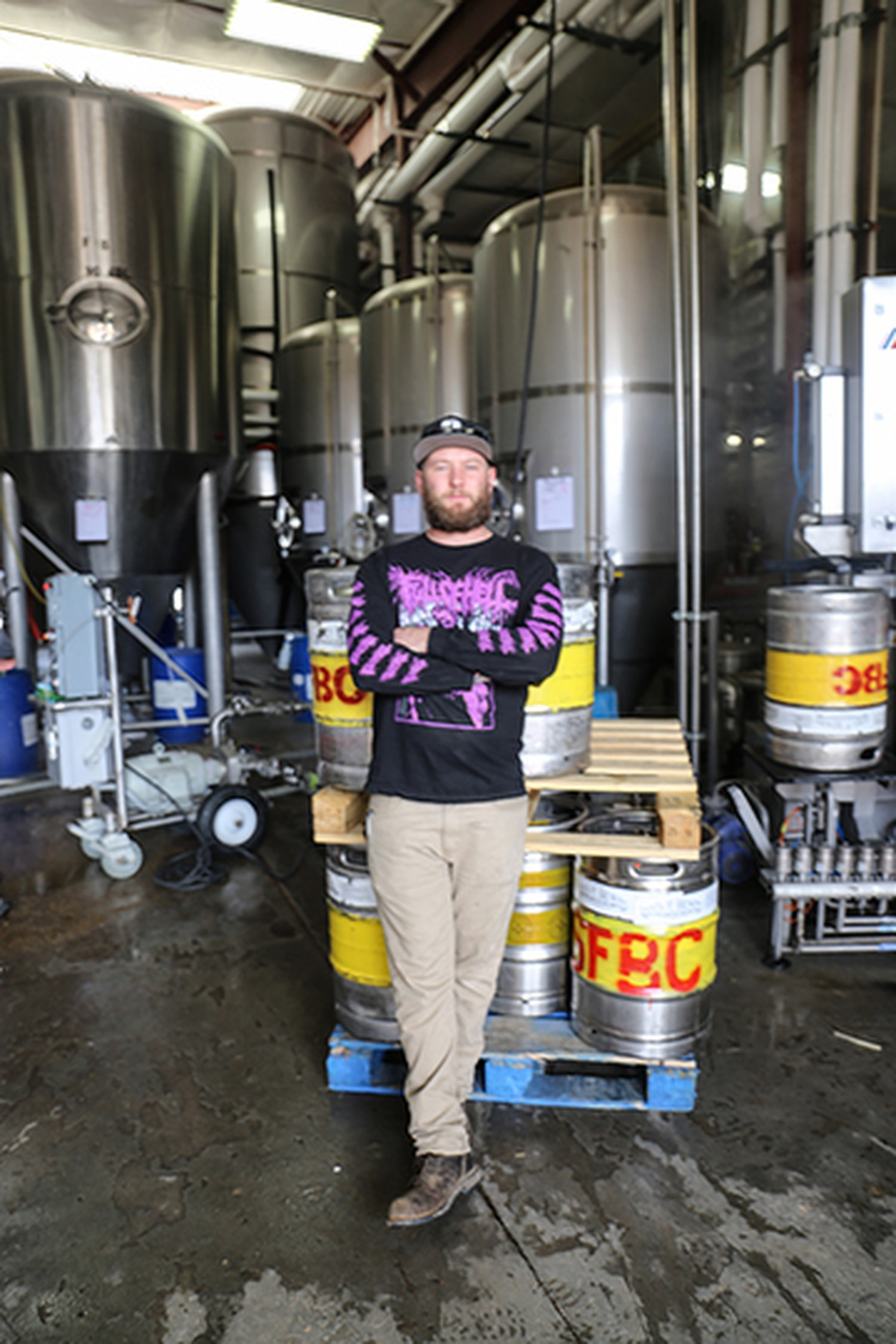 Head of Research and Development, David Ahern-Seronde. Opposite: Santa Fe Brewing Co. is all over the barrel game.