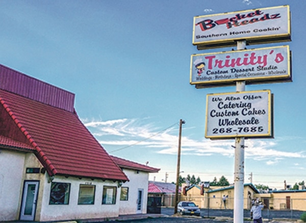 Bucket Headz is the Albuquerque soul food restaurant where the informant first met Padilla.