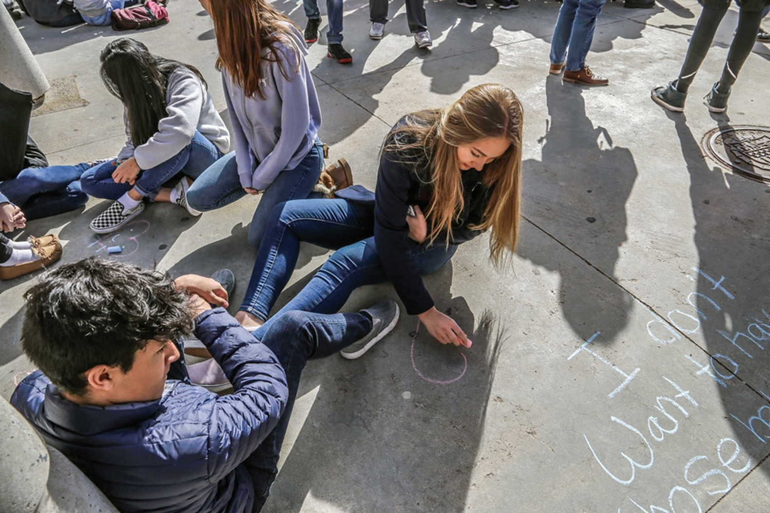Students participate in the 2018 walkout for gun violence. Firearms account for almost half of all suicides, and for seven youth suicides that occurred in Santa Fe County since 2009.