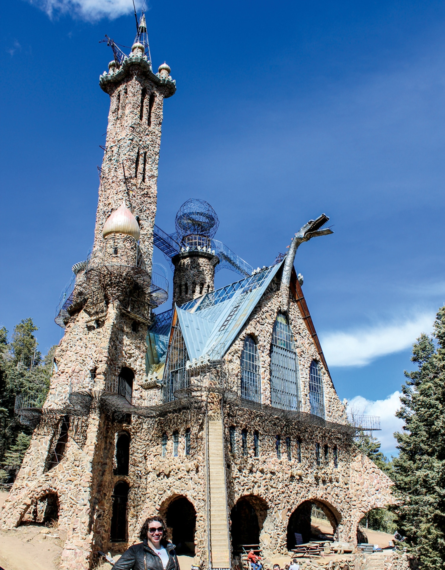 Sixteen stories tall and full of exposed rebar, there's no playground quite like Bishop Castle.