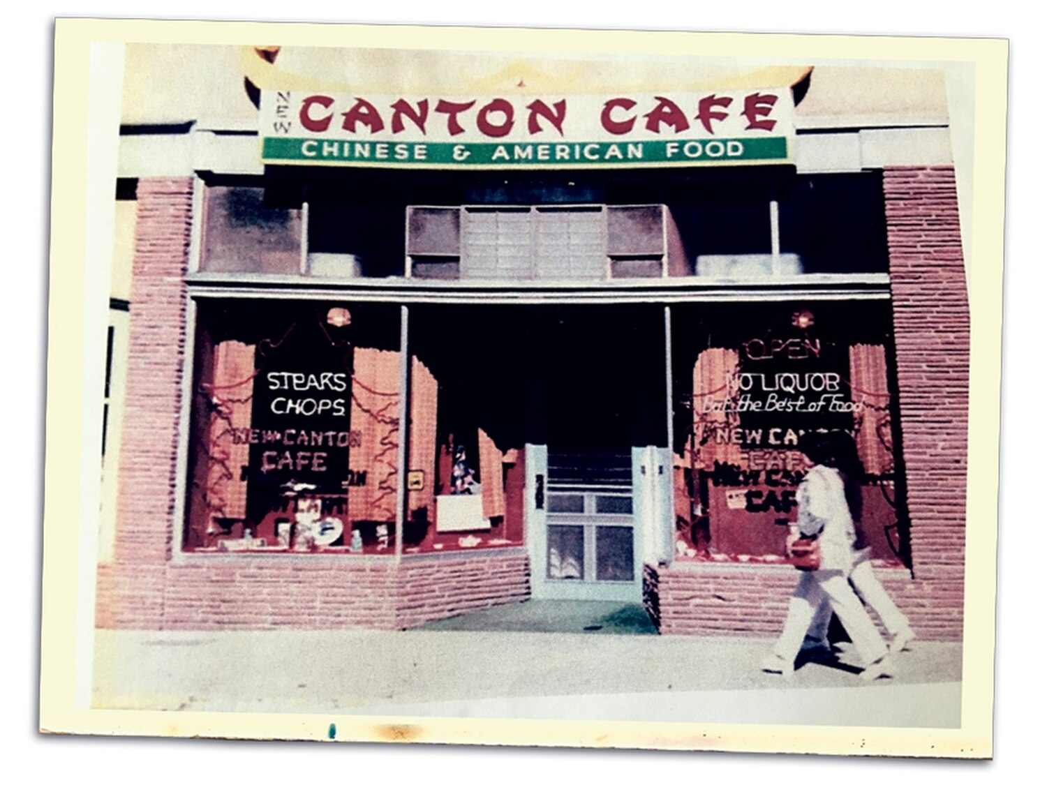 The New Canton Cafe dished up Chinese and American food for more than years. Here it is in the 1960s.