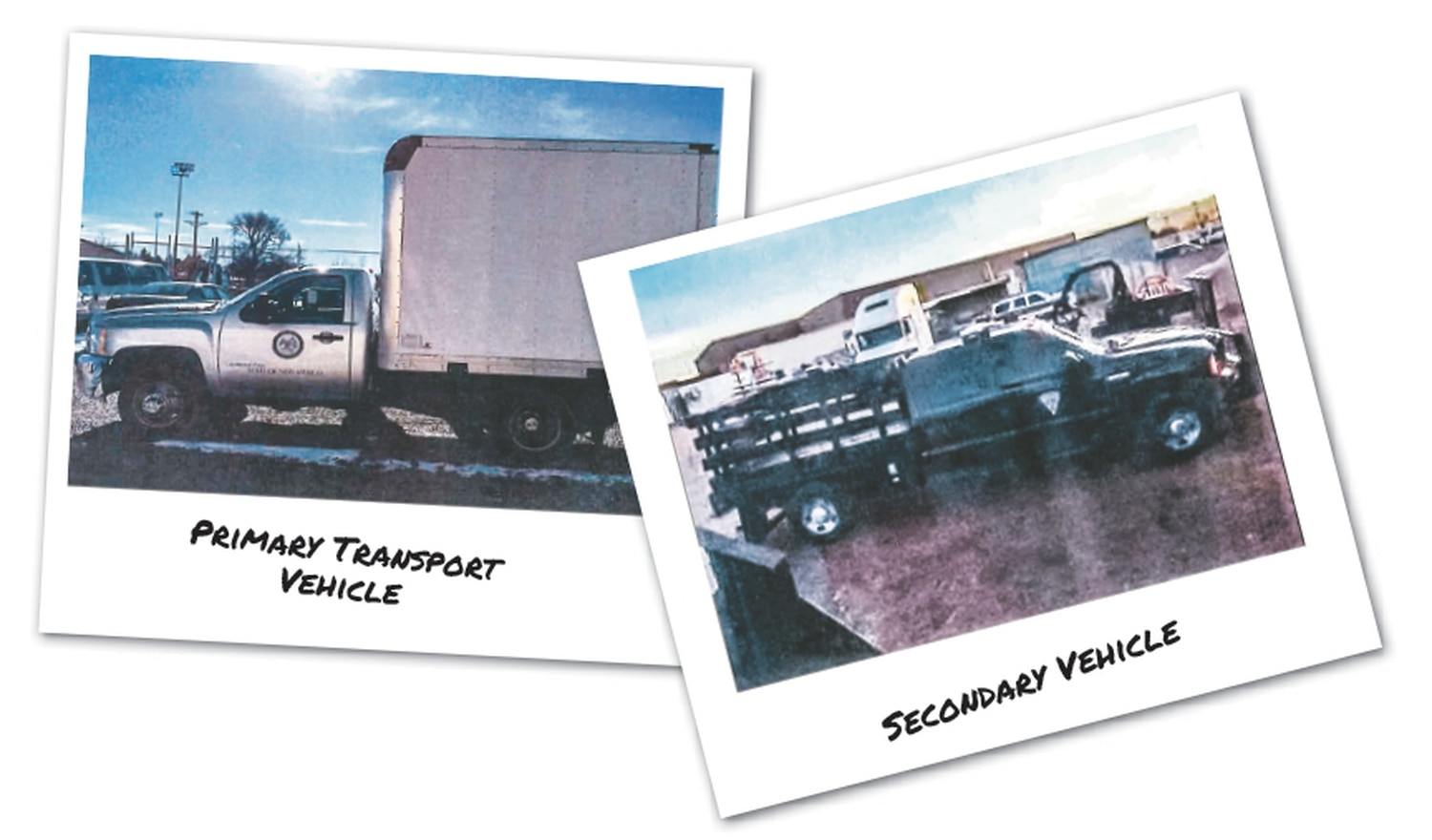 These photos, obtained through a public records request, show the vehicles the state Environment Department planned to use to move americium out of the Santa Fe city limits in February 2016.