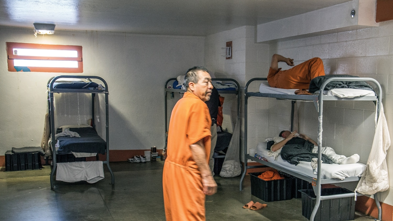 The Delta cells blocks of the jail are structured like a dormitory. A class action lawsuit filed by inmates says the entire building was contaminated by toxic dust and fumes.