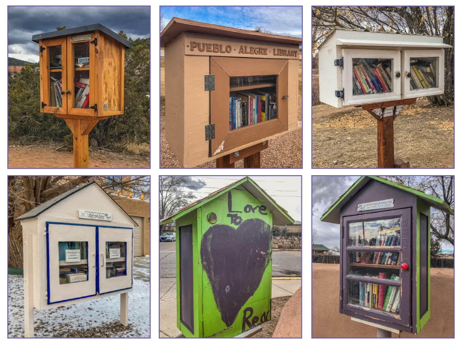 Santa Fe's Little Libraries differ in theme. Some have a child-like joy, others blend seamlessly into their surroundings and others intentionally stand out.