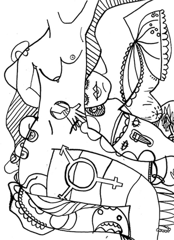 Anastasio Wrobel's Non-Binary Coloring Book differs from the hordes of other such projects currently on the market.