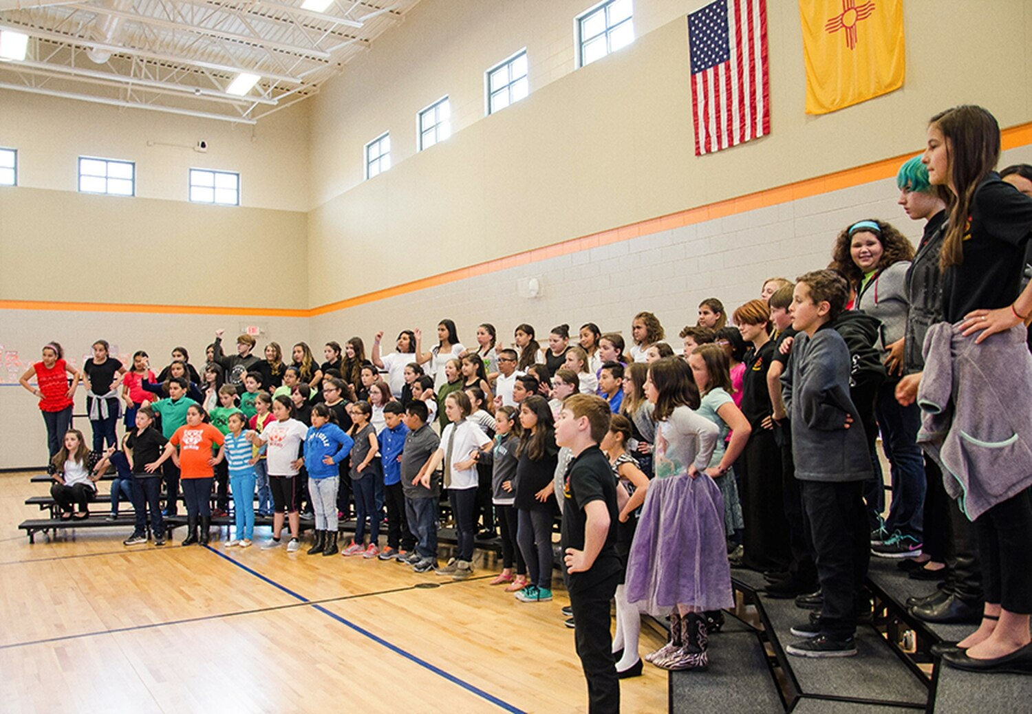 Young students from various Santa Fe schools take part in the annual choral performance, Cantamos Santa Fe, last April.
