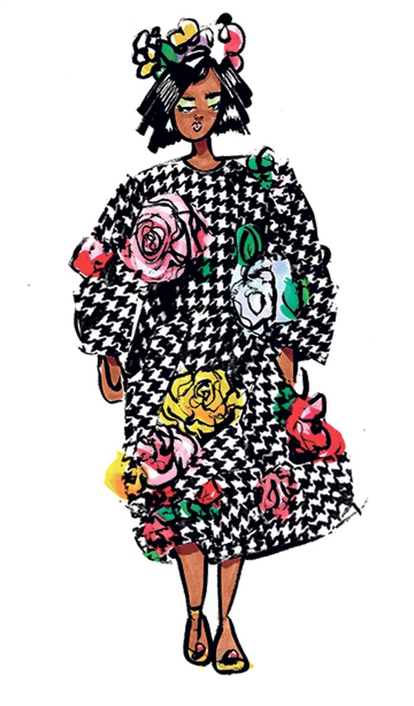 Dress, shoes and hat by Dolce & Gabanna, Autumn/Winter 2016-17