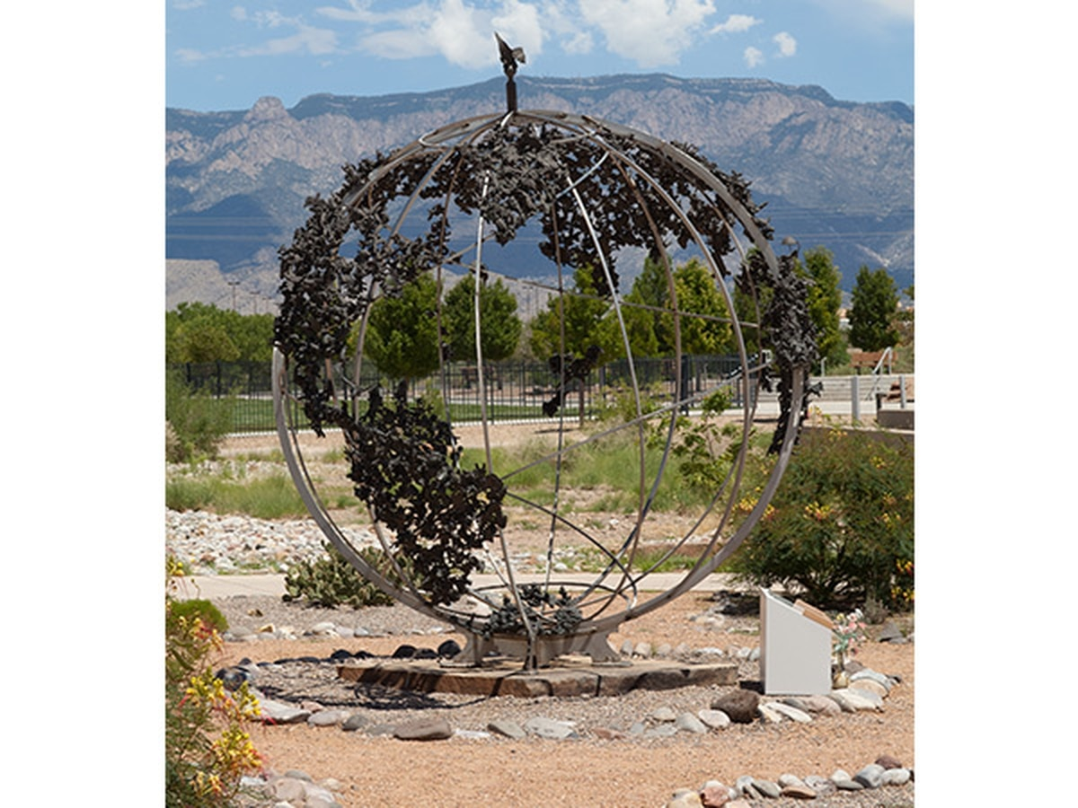 The Children's Peace Monument at the Anderson Abruzzo Albuquerque International Balloon Museum.