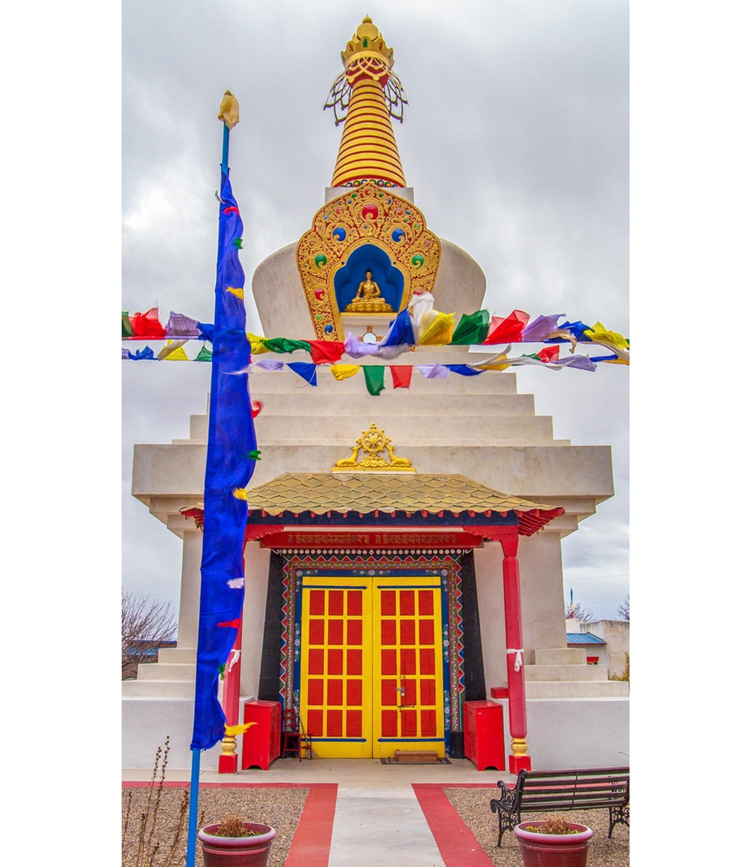 The stupa at the Kagyu Shenpen Kunchab Tibetan Buddhist Center symbolizes love, compassion and liberation, its lama tells SFR.