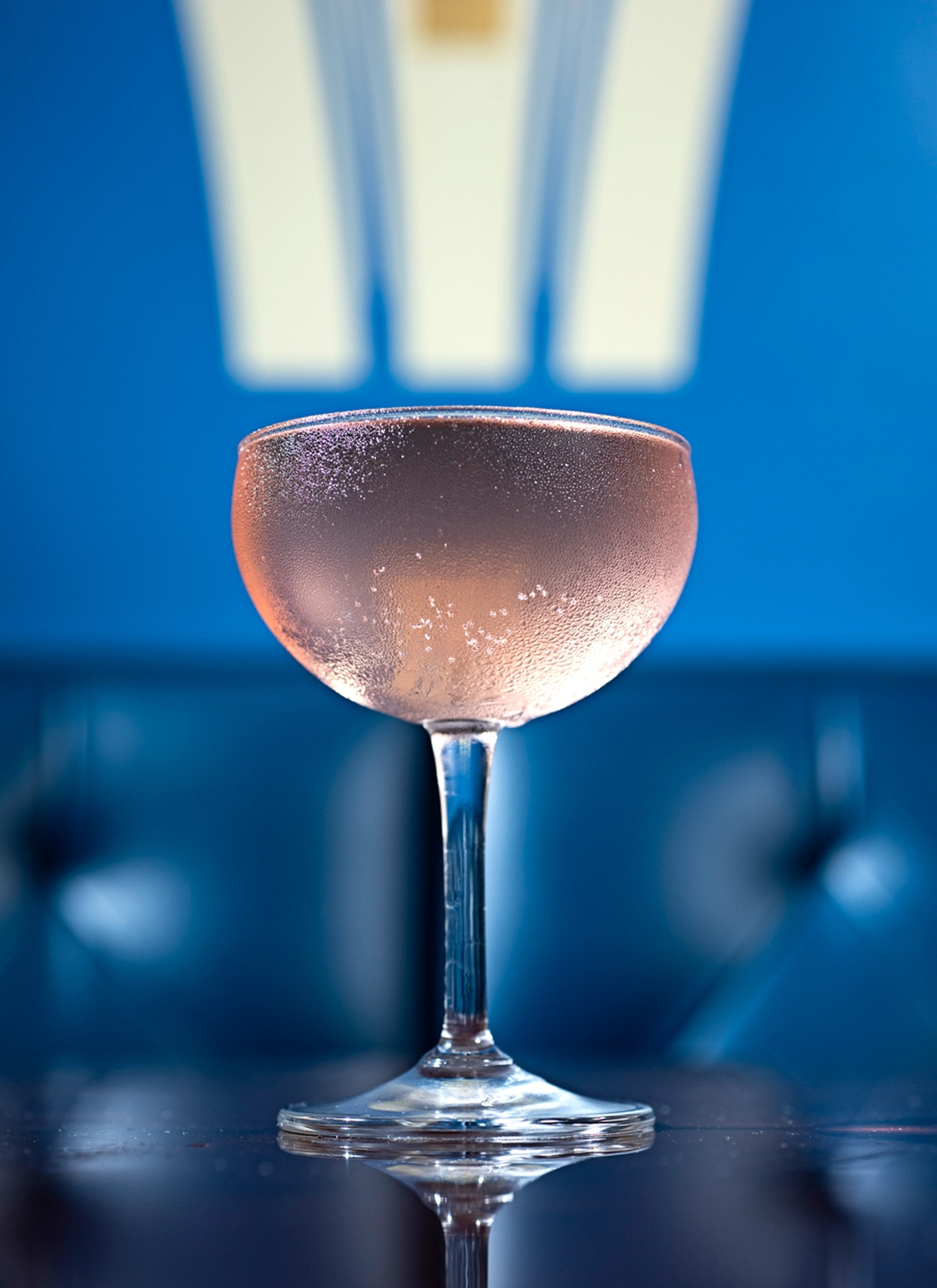 Vodka, passion fruit juice, cranberry syrup and sparkling wine ($11)