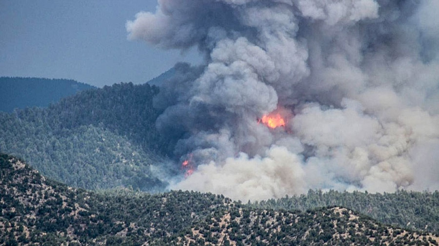 The Medio Fire burned 4,010 acres in the Santa Fe National Forest. It is now considered 100% contained.