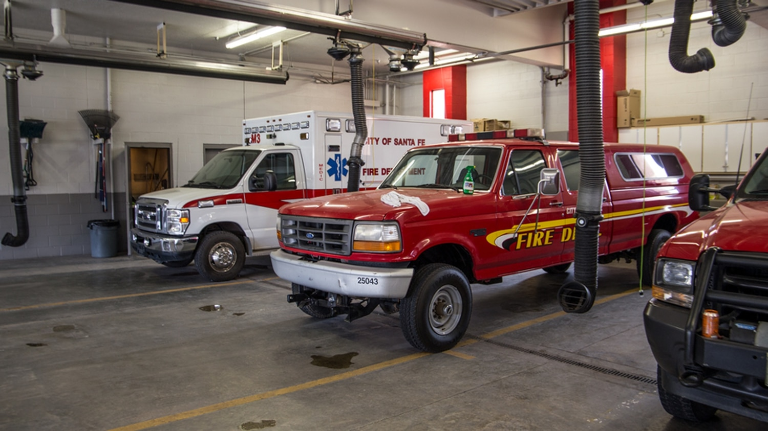 Every first response vehicle in the city will receive a new onboard radio, along with new portable radios for every fire fighter and police officer in Santa Fe