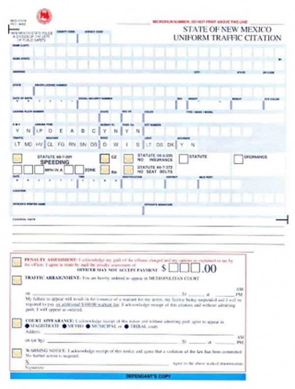 For police officers in most of the state, issuing citations still requires the completion of this cumbersome form.