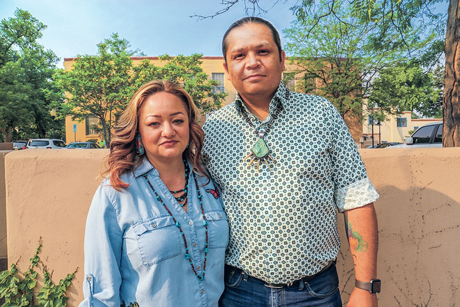 Cyndi Hall and her husband, Tsali, are among urban Indians from faraway tribes who have trouble getting services at the Santa Fe Indian Hospital due to a resource crunch.
