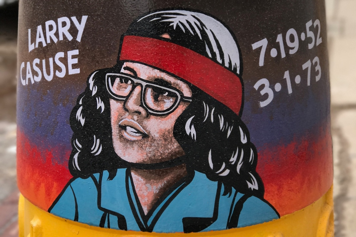 Lawyer Barry Klopfer commissioned artist Ric Sarracino to paint Larry Casuse on a downtown Gallup planter, but the city removed it in April after a complaint.