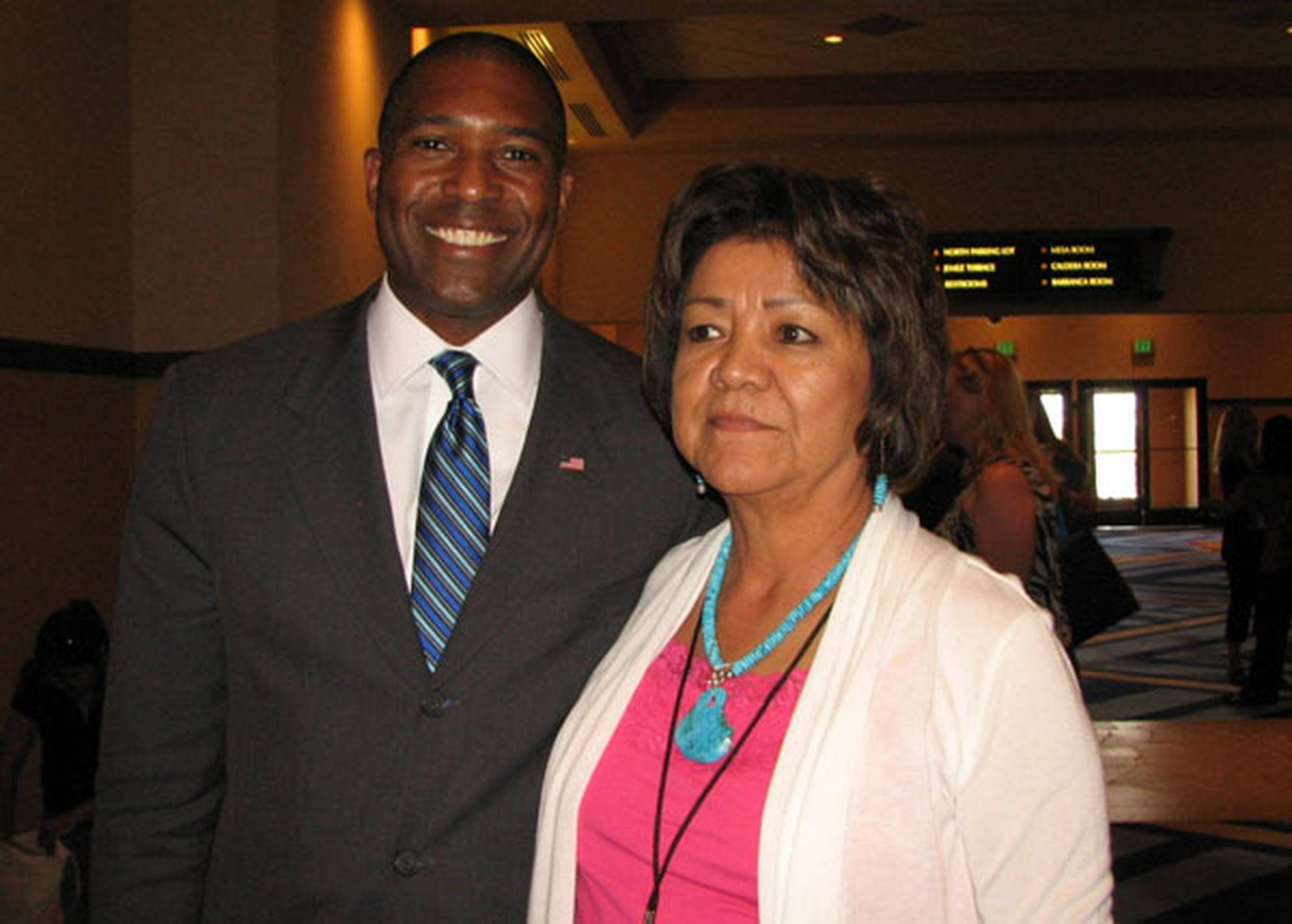 Acting Associate Attorney General Tony West (left) and Navajo Nation Tribal Judge Irene Toledo each discussed efforts to resolve tribal justice system problems at a conference last month in Pojoaque.