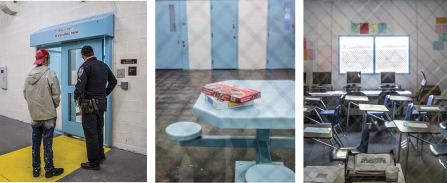 The youth lockup has a few touches of childhood such as board games and classrooms, but it's got a distinctive jail feeling.