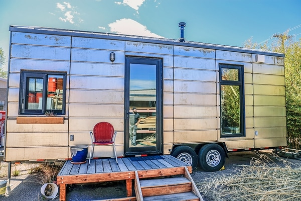 This tiny house from Extraordinary Structures on Siler Road is just one of various modular options.
