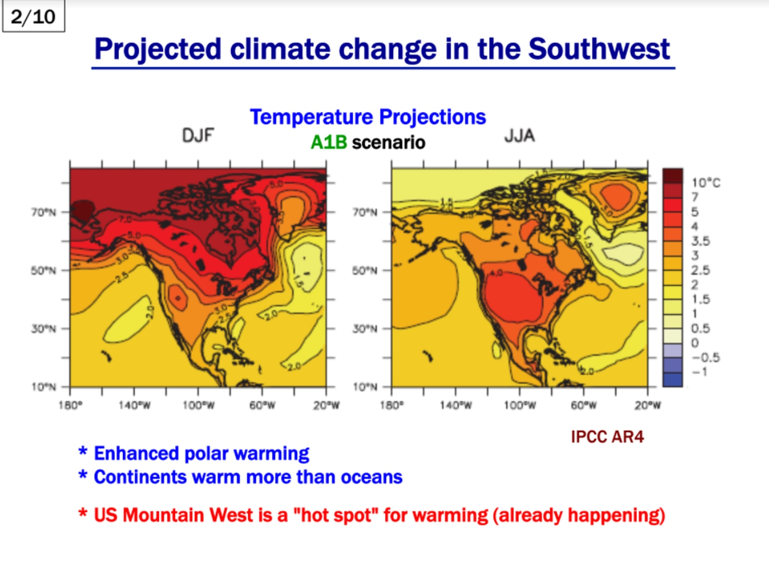 """From David Gutzler's Oct. 28, 2017 presentation, """"Climate Change in Southwestern North America."""""""