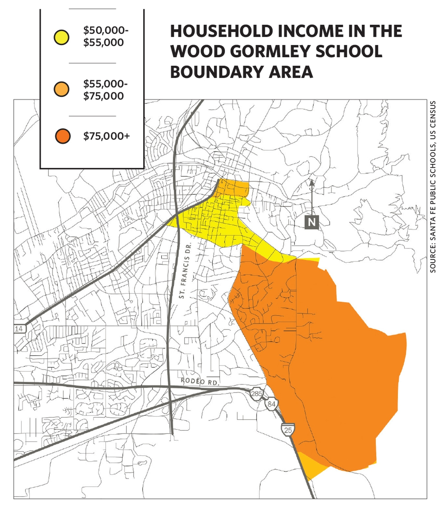 Children who live outside Wood Gormley's boundaries but want to attend the high-performing elementary school face a competitive interzone transfer process. But as a recent graduate student's research shows, even students who have been allowed to transfer into the school come from census tracts with similar levels of wealth.