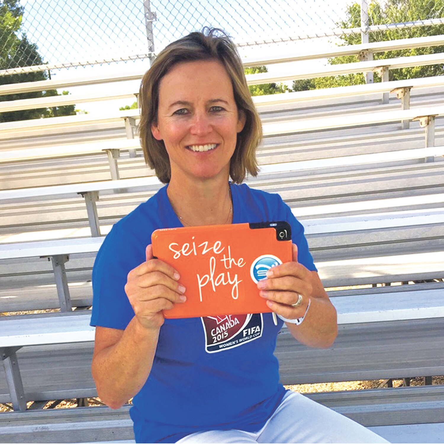 Molly Cernicek's app shares video clips for athletes and compiles highlight reels.