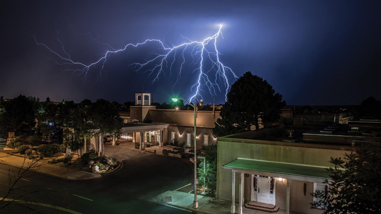 Rooftop Storm (From Sandoval Street parking garage, Santa Fe)