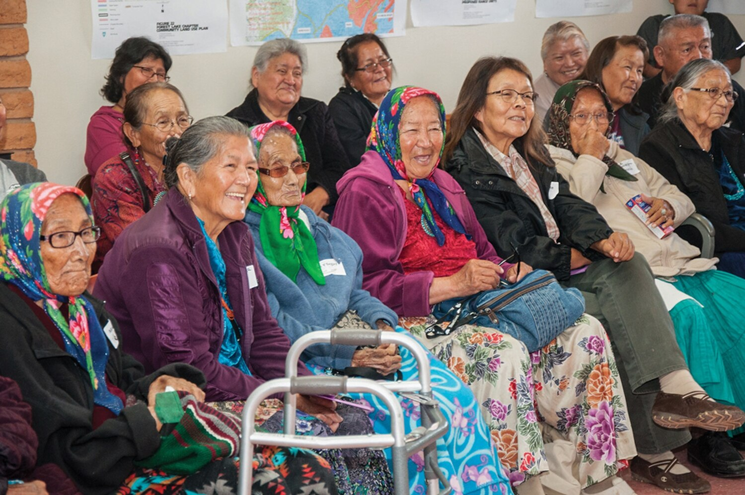 Navajo elders gather at the Forest Lake Chapter House in Piñon, Arizona, in October 2018.