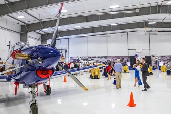 Fixed-based operators handle service for many private pilots who use the airport. Jet Center at Santa Fe was the site of a business gala this month.