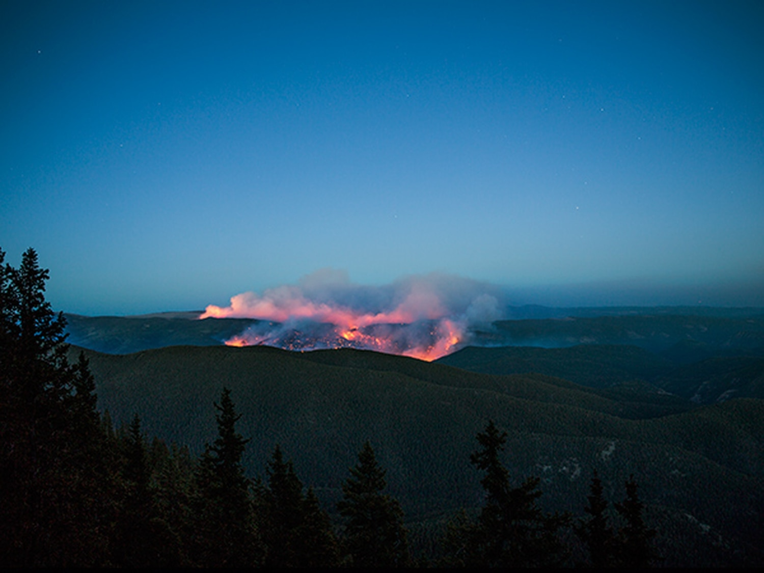 Photographer Ryan Heffernan's time-elapse photos of the Tres Lagunas Fire near Pecos were taken on May 31, the day the fire started. Fanned by wind and hot temperatures, it burned more than 10,000 acres before firefighters were able to contain it.