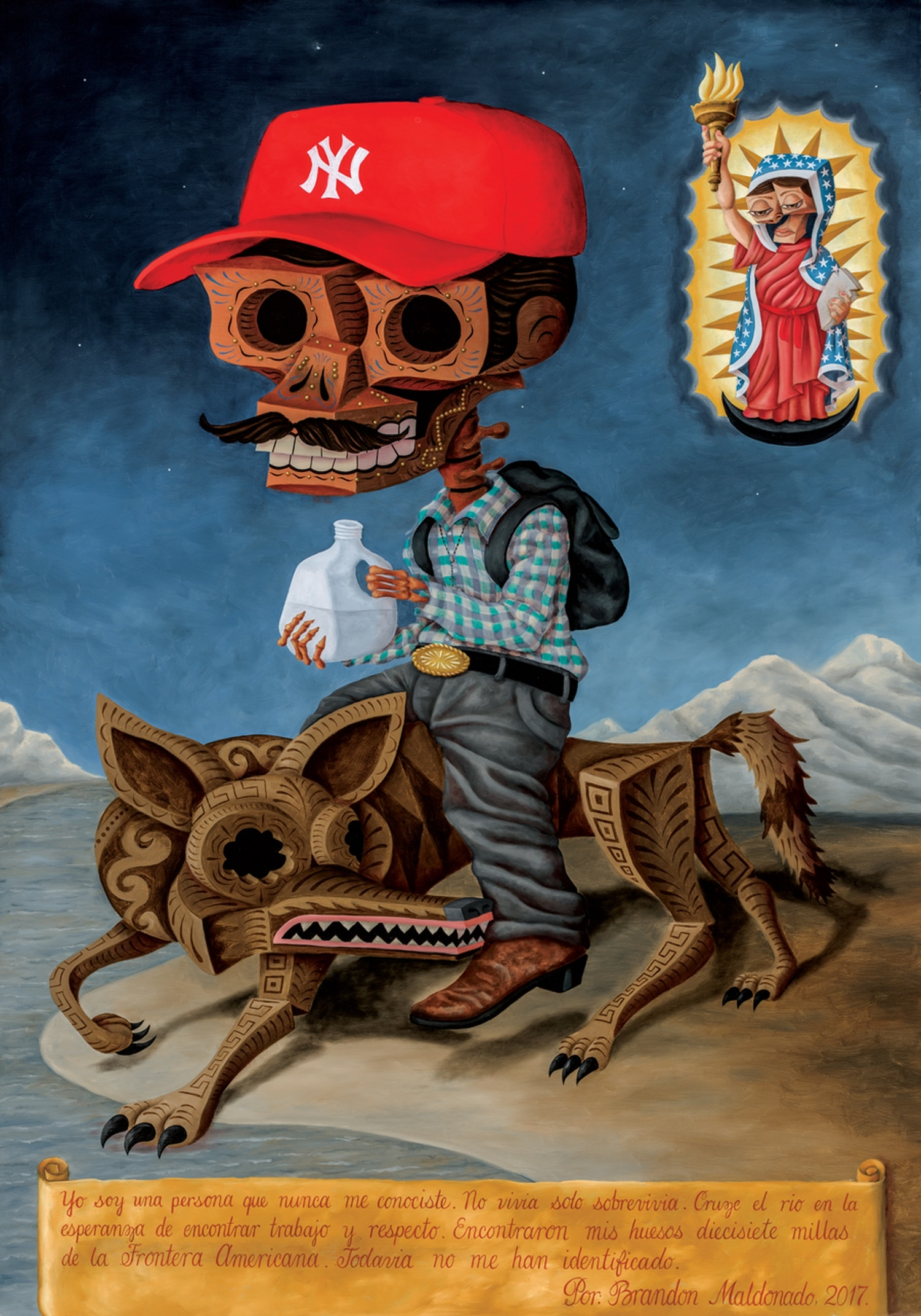 "The Museum of Spanish Colonial Art welcomes the new guard of Hispanic artists, like Brandon Maldonado (this is ""El Mojado"")."