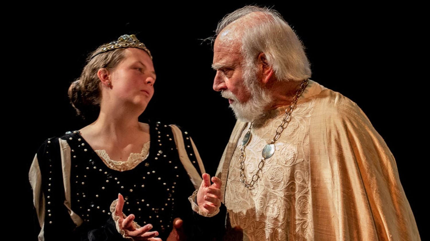 The International Shakespeare Center presents a scene from King Lear, currently up at the Adobe Rose Theatre.
