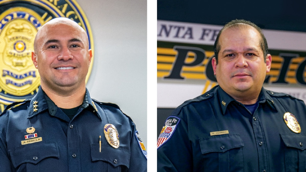 Deputy Police Chiefs Andrew Padilla (left) and Mario Salbidrez will take over the department as interim co-chiefs this week. Both tell SFR they're planning to apply for the permanent chief job.